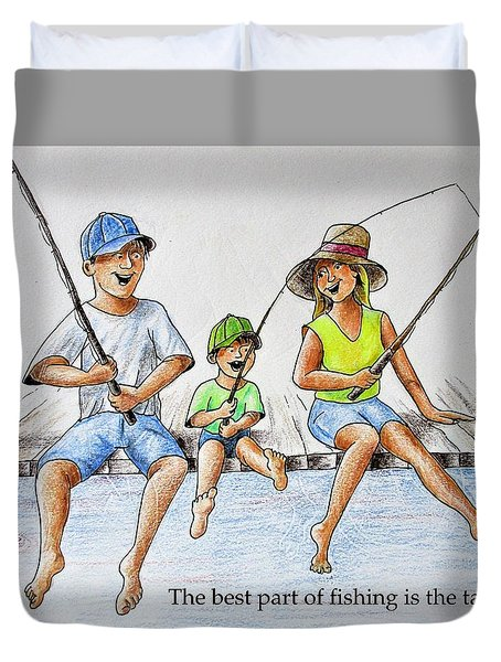 Fishing Tale Duvet Cover