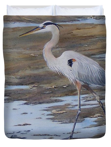 Fishing The Mud Flats...sold  Duvet Cover