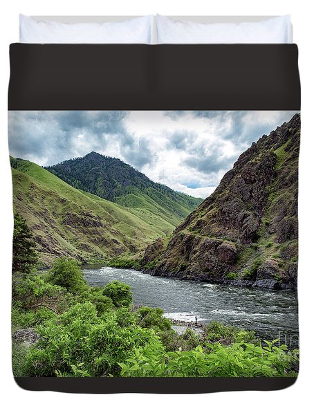 Fishing The Snake Waterscape Art By Kaylyn Franks Duvet Cover