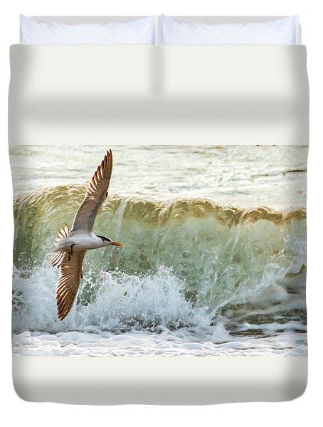 Fishing The Surf Duvet Cover