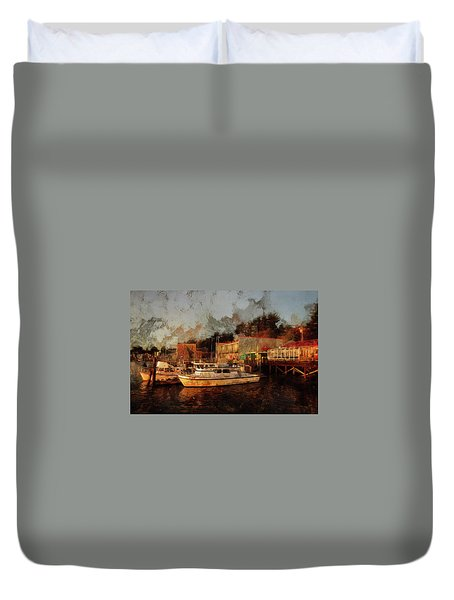 Fishing Trips Daily Duvet Cover