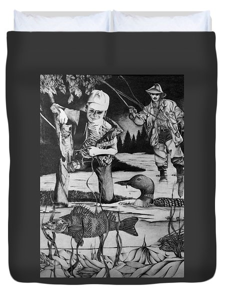 Fishing Vacation Duvet Cover by Bruce Bley