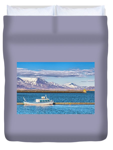 Fishing Duvet Cover by Wade Courtney