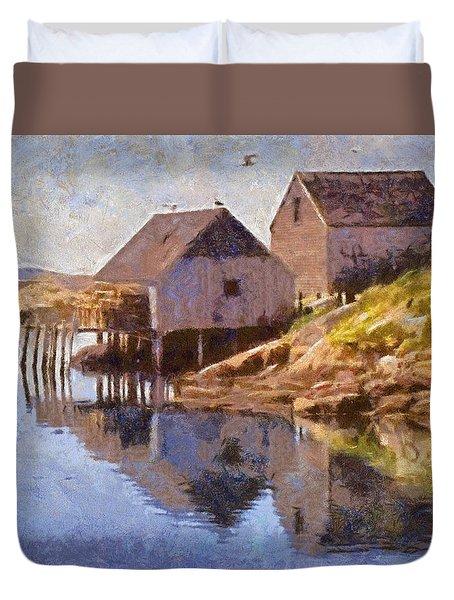Fishing Wharf Duvet Cover by Jeffrey Kolker