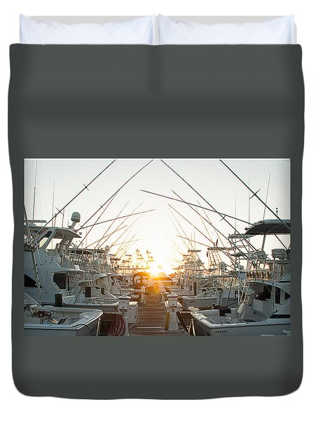 Fishing Yachts Duvet Cover