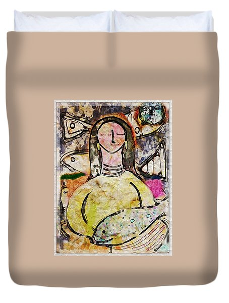 Fishmonger's Wife Duvet Cover