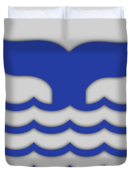 Fishtail In Blue Duvet Cover