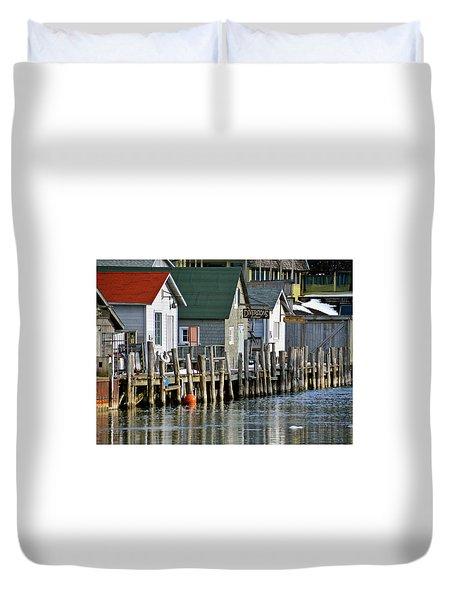 Fishtown In Leland Duvet Cover