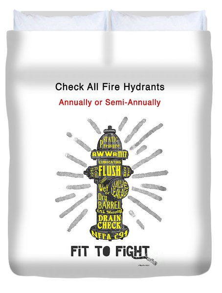 Fit To Fight Duvet Cover