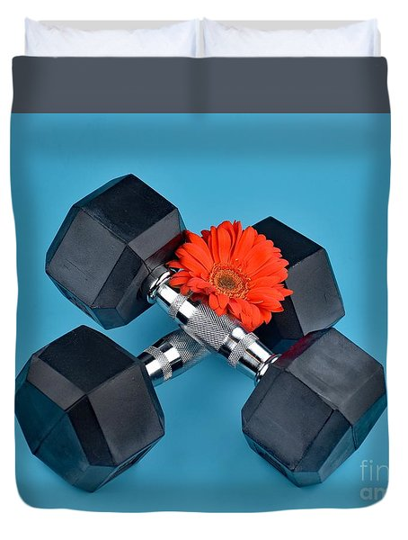 Fitness By Daisy Duvet Cover