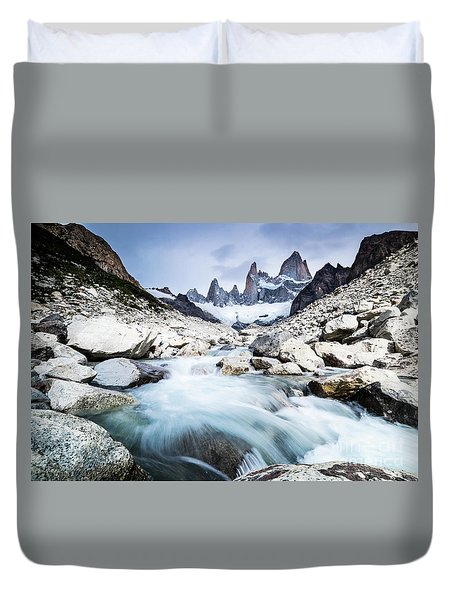 Fitz Roy On A Cloudy Day  Duvet Cover