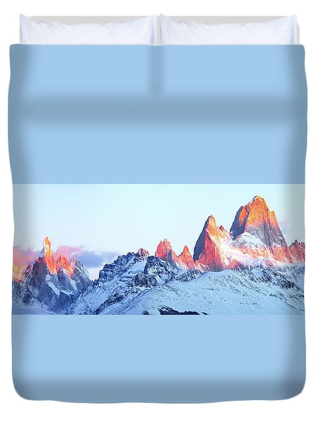 Fitz Roy Peak Duvet Cover