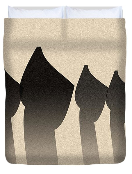Five Figures Duvet Cover
