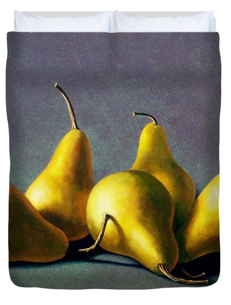 Five Golden Pears Duvet Cover