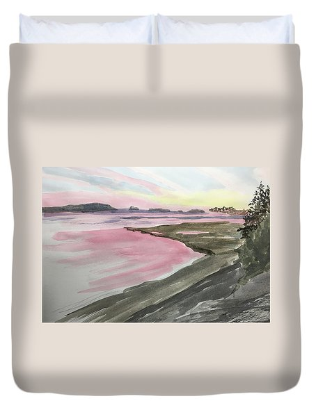 Five Islands - Watercolor Sketch  Duvet Cover by Joel Deutsch