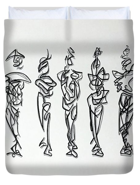Five Muses Duvet Cover