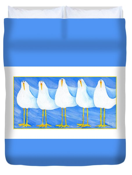 Five Seagulls Duvet Cover