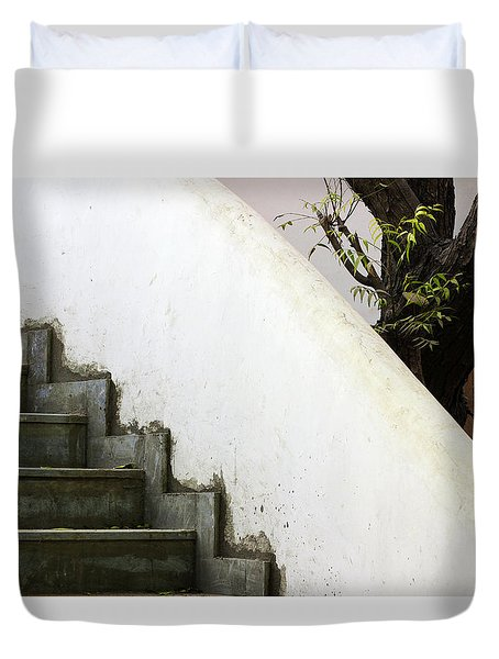 Duvet Cover featuring the photograph Five Steps To Glory by Prakash Ghai