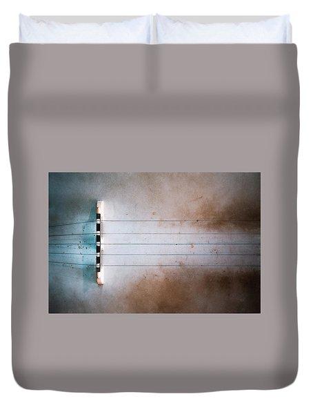 Five String Banjo Duvet Cover