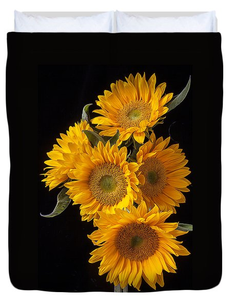Five Sunflowers Duvet Cover
