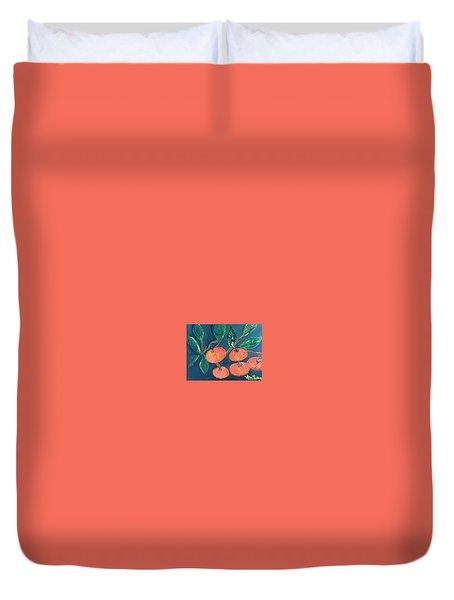 Five Tangerines Duvet Cover