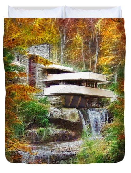 Fixer Upper - Frank Lloyd Wright's Fallingwater Duvet Cover