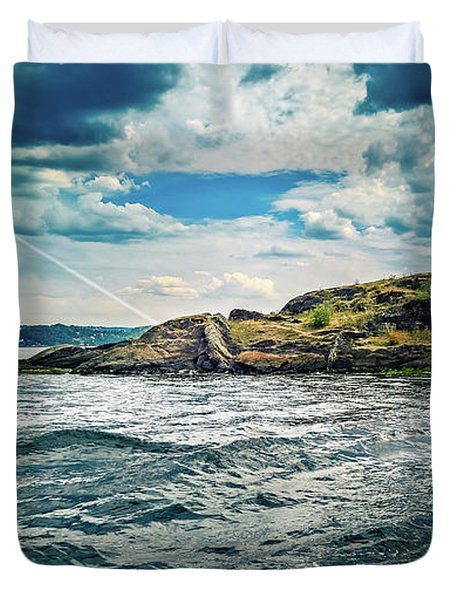 Fjord From The Ferry Duvet Cover