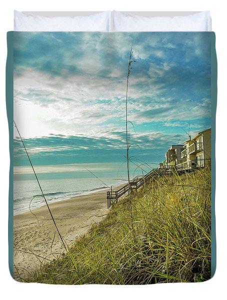 St Aug Beach Duvet Cover
