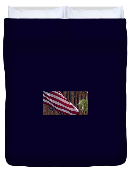 Flag Courtship Duvet Cover