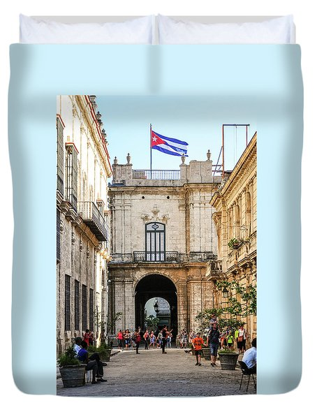 Flag Of Cuba Duvet Cover