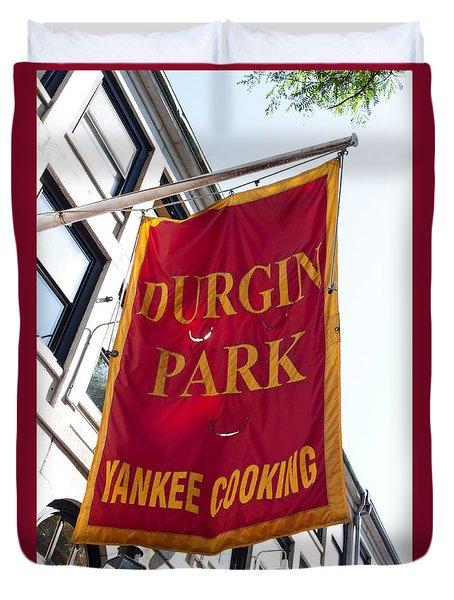 Flag Of The Historic Durgin Park Restaurant Duvet Cover