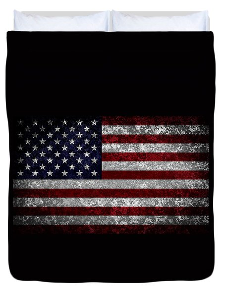 Flag Of The United States Duvet Cover by Martin Capek