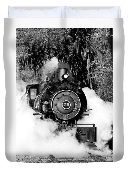 Flagg Coal Steam Engine Duvet Cover