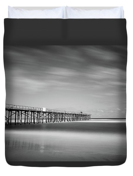 Flagler Beach Pier Duvet Cover
