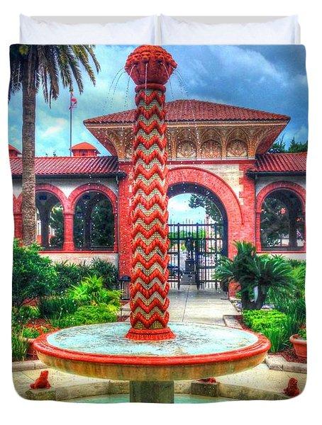 Flagler College Fountain Duvet Cover