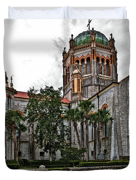 Flagler Memorial Presbyterian Church 2 Duvet Cover by Christopher Holmes