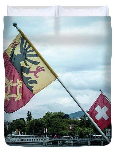 Flags & Ferry Duvet Cover