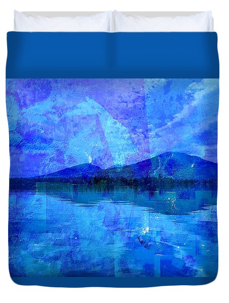 Flagstaff Lake Blu Duvet Cover