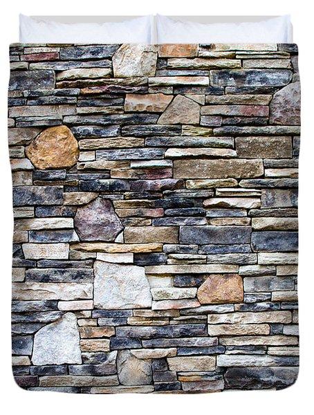 Flagstone Wall Duvet Cover