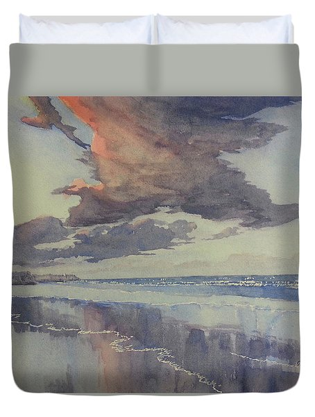 Flamborough Head From Fraisthorpe Beach Duvet Cover