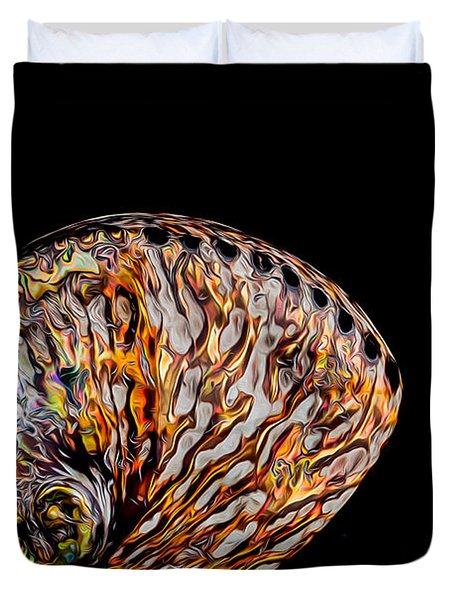 Flame Abalone Duvet Cover