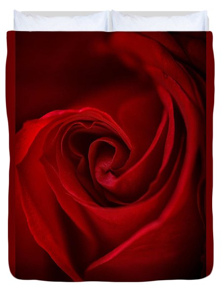 Flame Duvet Cover by Amy Porter