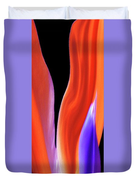 Flame - Bird Of Paradise   Duvet Cover