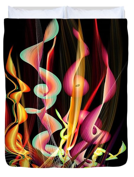 Flame By Nico Bielow Duvet Cover by Nico Bielow