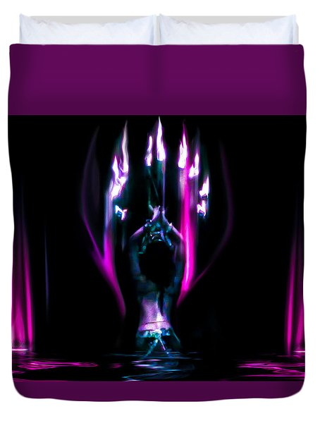 Flame Dance Duvet Cover