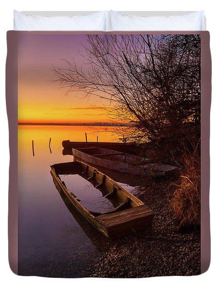 Duvet Cover featuring the photograph Flame Of Dawn by Davor Zerjav