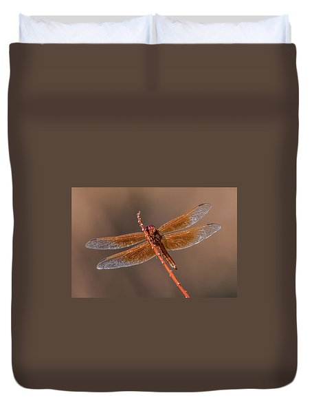 Duvet Cover featuring the photograph Flame Skimmer Close Up by Dan McManus