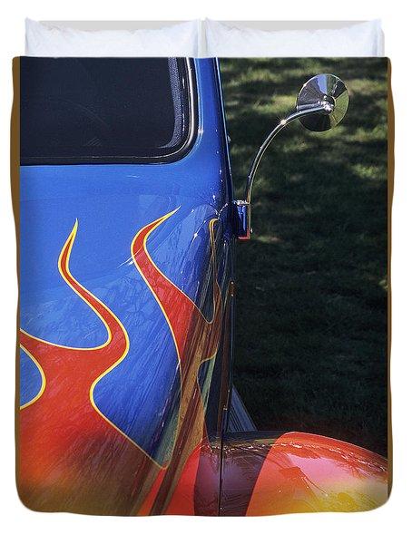 Flame Thrower Duvet Cover