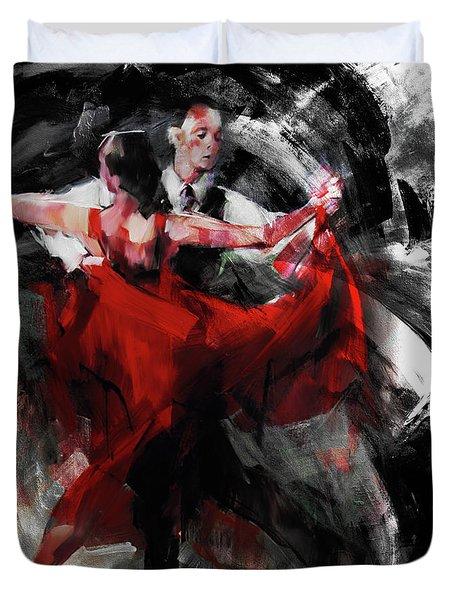 Flamenco Couple Dance  Duvet Cover