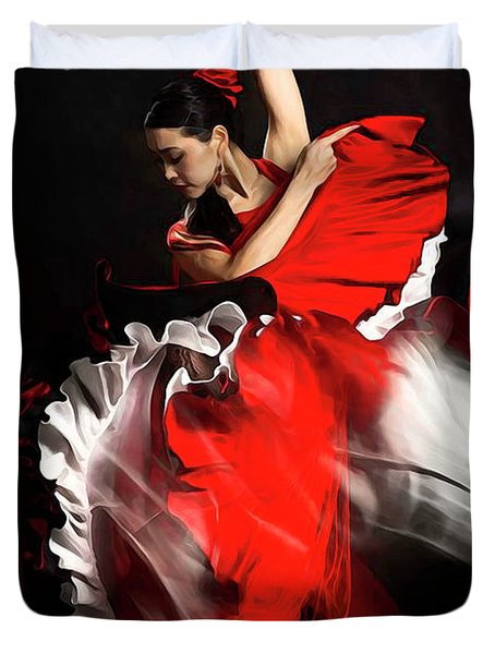 Flamenco Dancer - 01 Duvet Cover